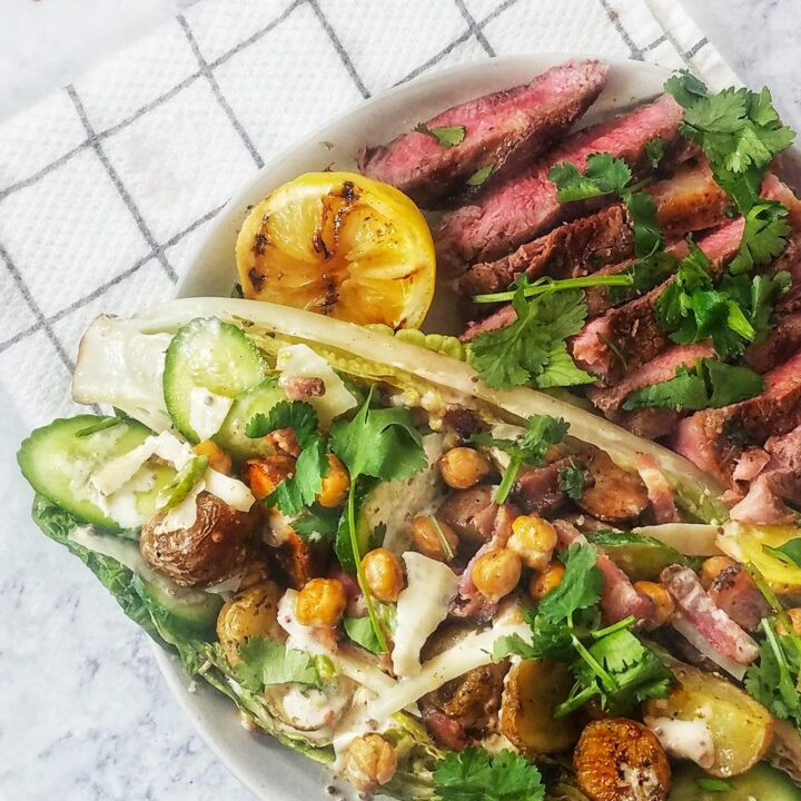 Salad with Potatoes and Spicy Mayo Dressing