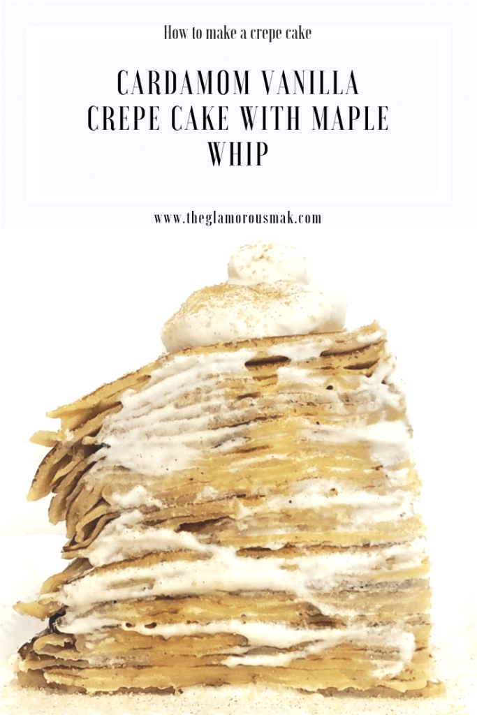 The perfect crepe cake for a fancy brunch party. make ahead breakfast